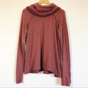 Free People Beach Maroon Cowl Neck Coverup